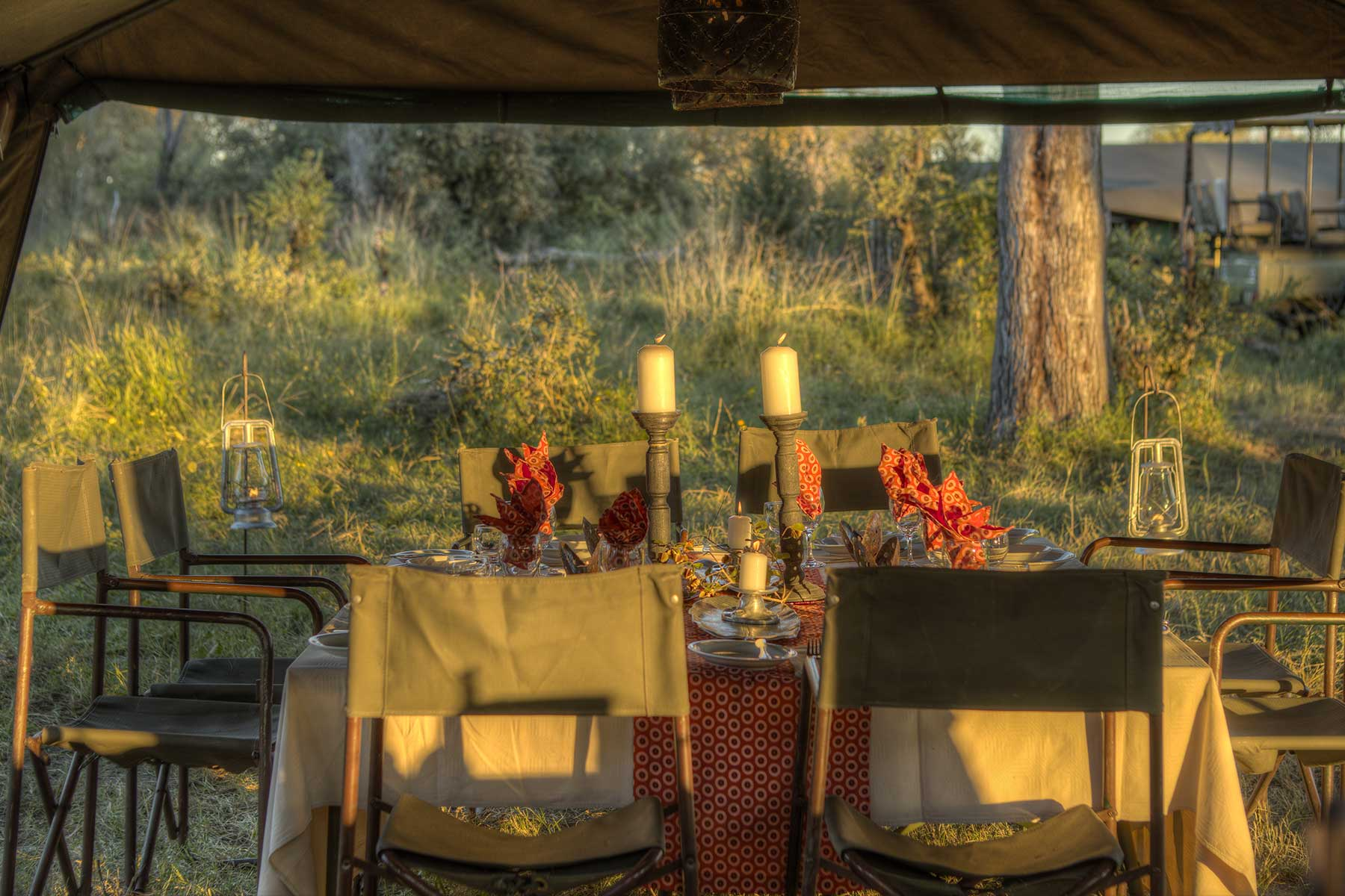 Chase Africa Safaris luxury dining tent