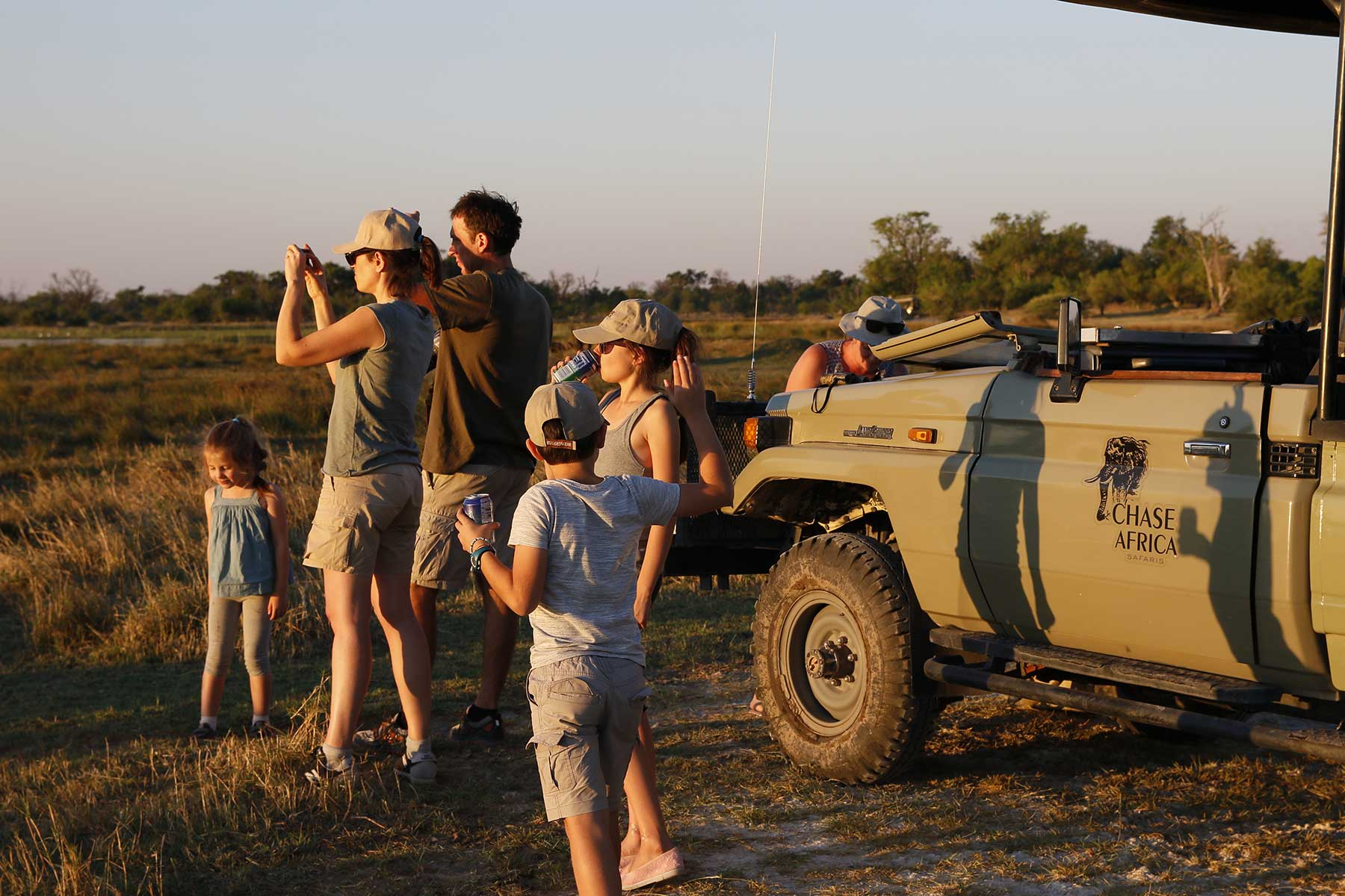 Family on safari with Chase Africa Safaris