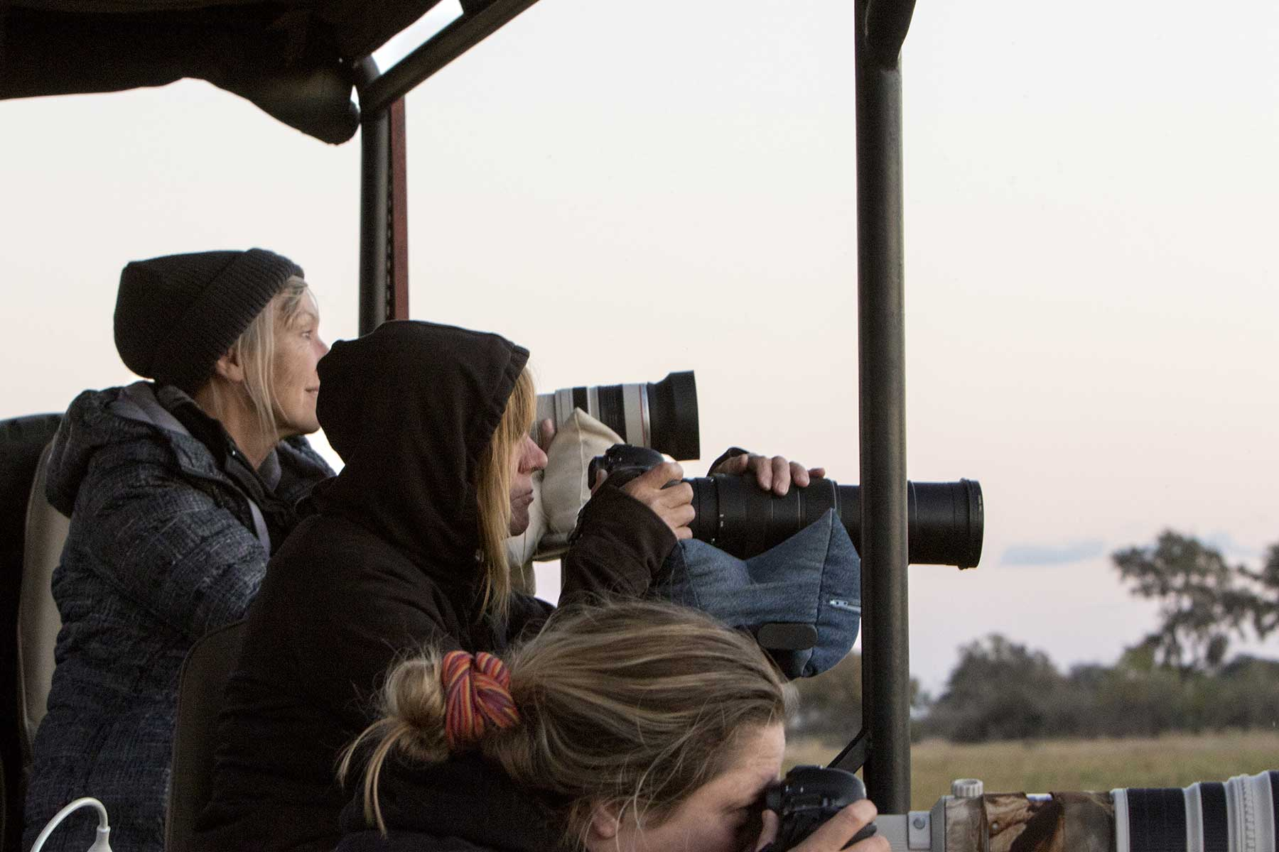 Guests on game drive Chase Africa Safaris